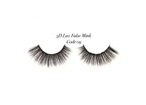 5 D LUX FALSE MINK EYELASHES CODE 09