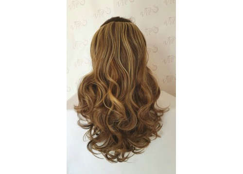Curly clip in multi layer hair extensions